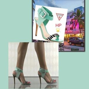 Guess❓Mint Zebra 🦓 sandal 🚤☀⛵